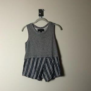 Anthropologie Mixed Material Tank Top